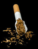 Crumpled cigarette Stock Photos