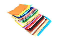 Crumpled color papers Royalty Free Stock Photos