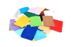 Crumpled color papers Stock Image