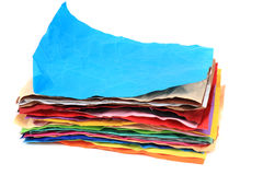 Crumpled color papers Royalty Free Stock Photography