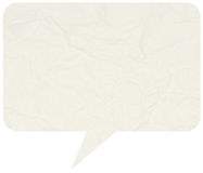 Crumpled comic speech bubble Royalty Free Stock Images
