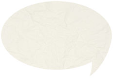 Crumpled comic speech bubble Stock Images
