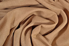 Crumpled  cotton canvas for needlework as background Stock Photo