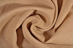 Crumpled  cotton canvas for needlework as background Stock Images