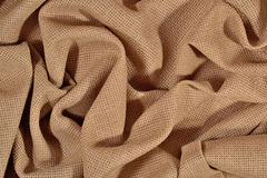 Crumpled  cotton canvas for needlework as background Royalty Free Stock Image