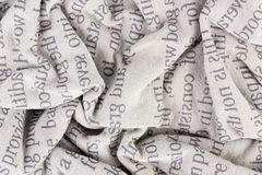 Crumpled cotton fabric macro Stock Photography