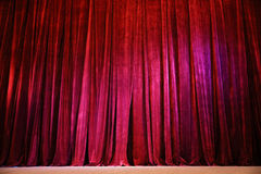 Crumpled curtain Stock Images