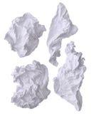 Crumpled dañó el papel blanco de la oficina Fotos de archivo