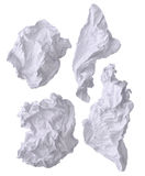 Crumpled damaged white office paper Stock Photos