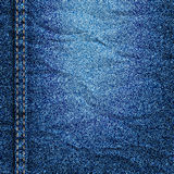 Crumpled denim texture. Vector EPS10 Stock Photography