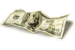 Crumpled Dollar Stock Photo