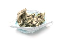 Crumpled dollar Royalty Free Stock Photo