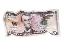 Crumpled dollar Stock Image