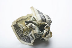 Crumpled Dollar Stock Photography