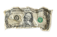 Crumpled dollar Stock Images