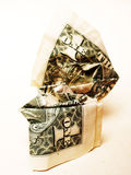 Crumpled dollar bill Stock Images