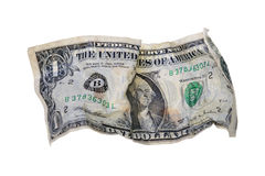 Crumpled Dollar Bill Stock Photo