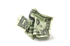 Crumpled dollar bills Stock Photos