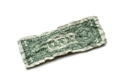 Crumpled dollar bills Royalty Free Stock Photo