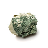 Crumpled dollar bills Royalty Free Stock Image