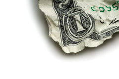 Crumpled dollar bills Stock Image