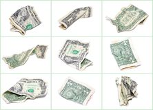 Crumpled dollar collage Royalty Free Stock Photo