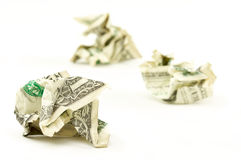 Crumpled Dollars Royalty Free Stock Photography