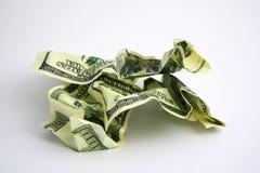 Crumpled dollars Stock Photo