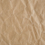 Crumpled eco paper texture Stock Image