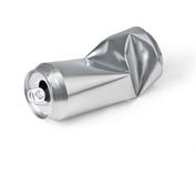 Crumpled empty can Royalty Free Stock Images