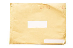 Crumpled envelope royalty free stock photography