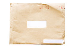 Crumpled envelope Royalty Free Stock Photos