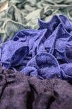 Crumpled fabric Stock Photo