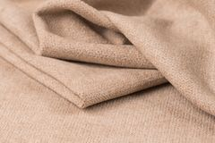 crumpled fabric background and texture. Royalty Free Stock Images
