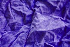 Crumpled fabric texture. Close up stock photography