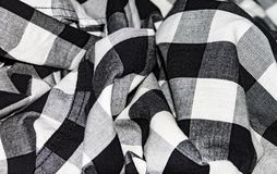 Crumpled fabric, texture of crumpled shirt, cloth background royalty free stock photos