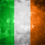 Crumpled flag of Ireland Stock Photo