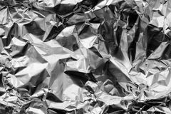 Crumpled foil Stock Image