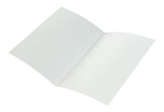 Crumpled folded A4 paper. 3d rendering on white background.  stock illustration