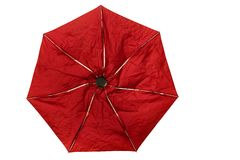 Crumpled folding umbrella Stock Image