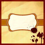 Crumpled frame with chocolate drops Stock Images