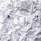 Crumpled garbage paper ready to throw away Royalty Free Stock Images