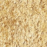 Crumpled gold foil. Seamless texture. Vector Stock Images