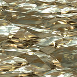Crumpled gold leaf. CGI abstract image of crumpled gold leaf Stock Image