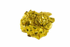 Crumpled gold paper Royalty Free Stock Photos