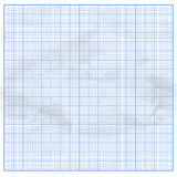 Crumpled graph white paper with blue cells Royalty Free Stock Image