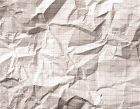 Crumpled gray blank math, grid paper background Royalty Free Stock Image