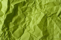 Crumpled green paper Stock Image