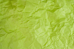 Crumpled green paper. (as a background Stock Photography