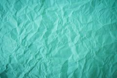Crumpled green paper back ground Stock Image
